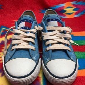 Vintage Tommy Hilfiger Blue Toe Cap  Sneakers 7 M